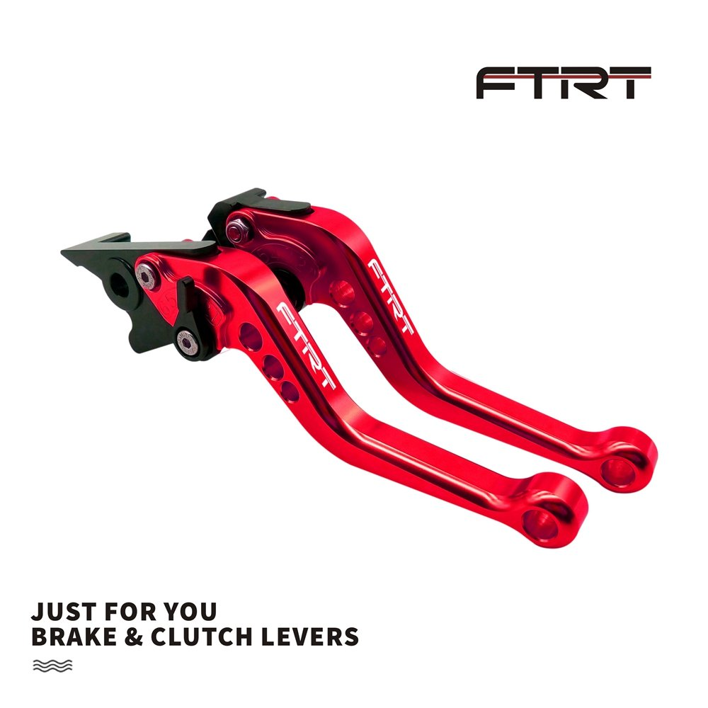 FTRT Adjustable Brake Clutch Levers for FTRT Short Brake Clutch Levers for Yamaha MT-07/FZ-07 14-18, XJ6 Diversion 04-15,FZ1 FAZER 06-15,FZ6 FAZER 04-10,FZ6R 09-15,FZ8 11-15,XSR 700/900 ABS 16-18 Red