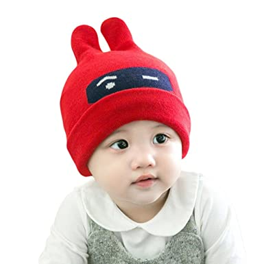 b7dde68f0 WensLTD Trendy Winter Baby Beanie Hat Cap Warm Cute Kids Boys Girls Toddler  Knitted