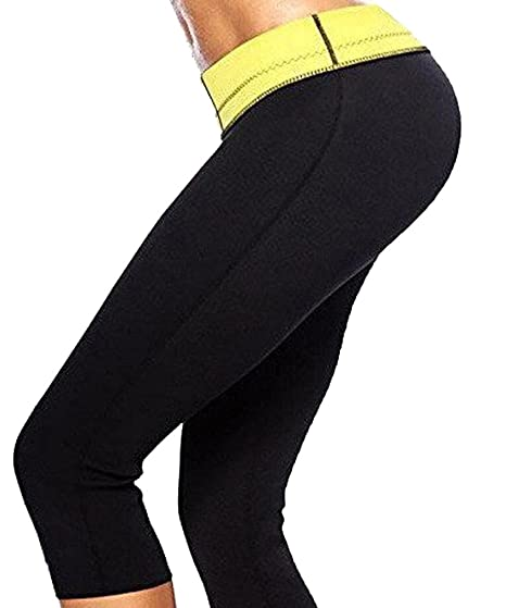 408f0141f7 Womens Hot Body Shapers Long Pants Slimming Thermo Sweat Sauna Neoprene  Thigh Slimmer Panty for Weight Loss at Amazon Women s Clothing store