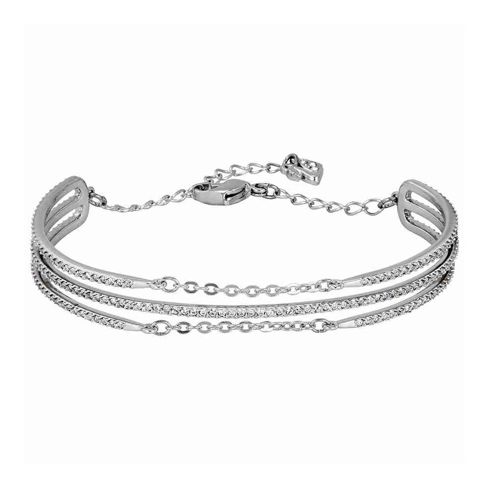 Swarovski Rhodium-Plated Fine Bangle