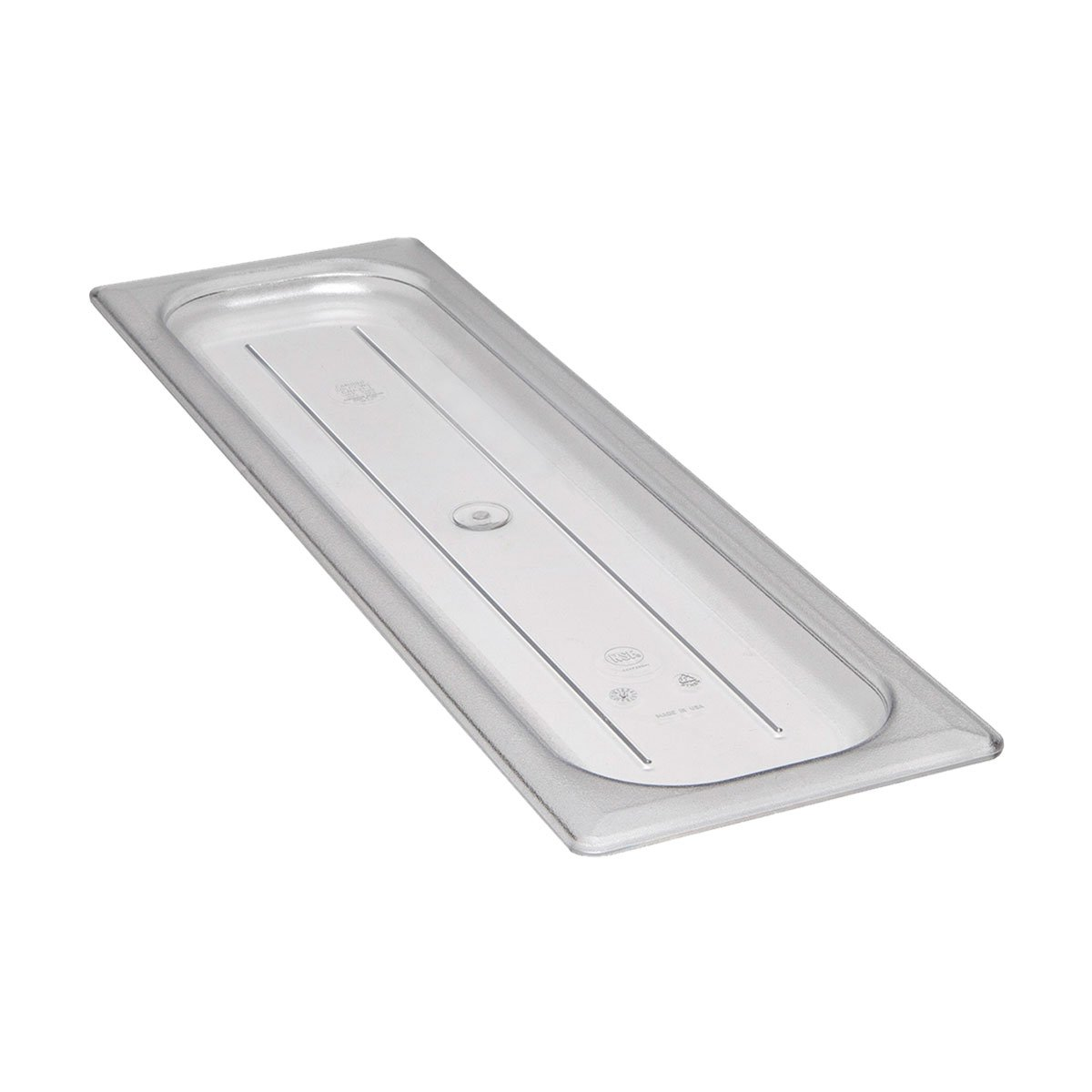 Cambro 20LPCWC135 Camwear Flat Food Pan Lid, Clear, 1/2 Size Long, Case of 6 by Cambro