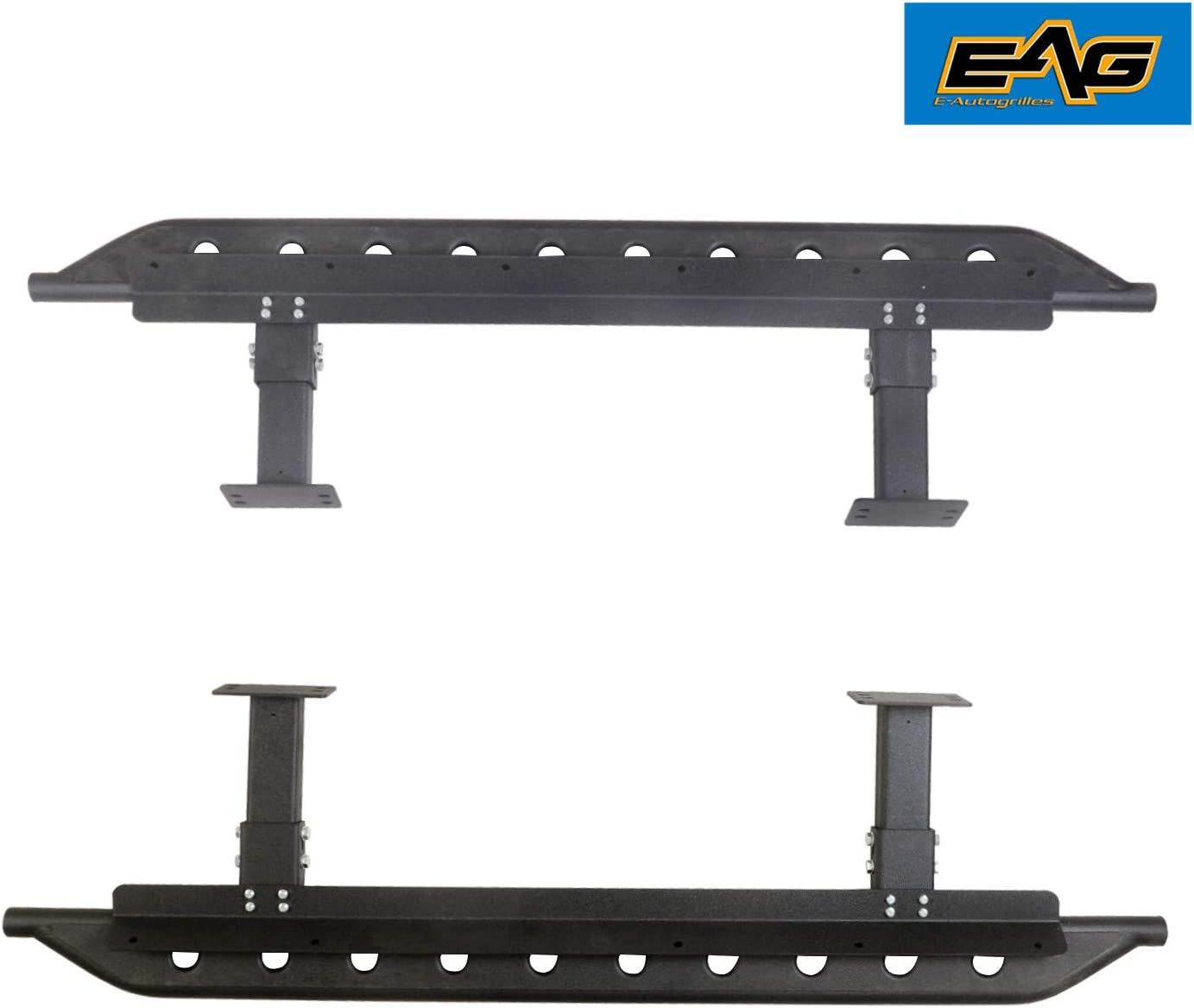 EAG Steel Rock Sliders Side Steps Running Boards Fit for 84-01 Jeep Cherokee XJ