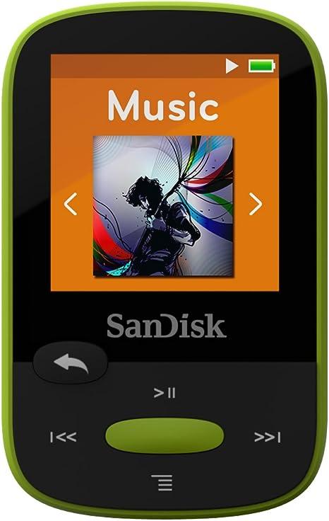 SanDisk Clip Clip Sport - Reproductor MP3 , 8GB, Verde: Amazon.es: Electrónica