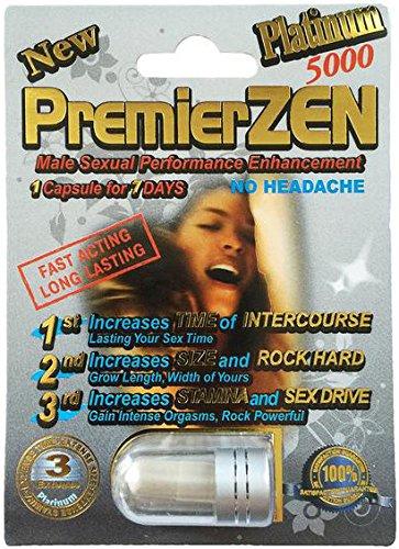 (PremierZen Platinum 5000 - 20 Pills Male Enhancement Pill - Fast US Shipping)