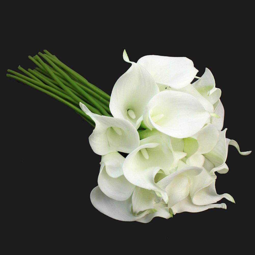 Amazon Calla Lily Bridal Wedding Party Decor Bouquet 20 Heads