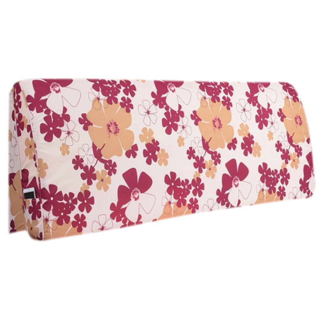 LQQGXL,Cushion, Continental minimalist bedside cushions large backrest solid wood bed soft bag bedspread double detachable washable back cushion ( Color : D , Size : 120cm10cm55cm )