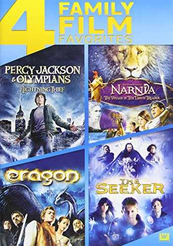4 Family Film Favorites: Percy Jackson -The Lightning Thief/ The Chronicles Of Narnia: Voyage Of The Dawn Treader/ Eragon/ The Seeker
