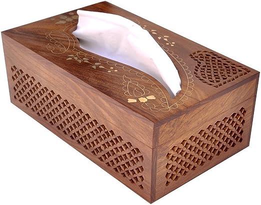 WhopperIndia - Caja tejida de madera para kleenex, hecha a mano ...