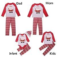 Baonmy Christmas Holiday Family Matching Sleepwear Pajamas Set Couples Pajamas
