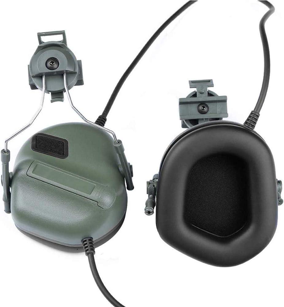 Protection Auditive R/éduction De Bruit Damplification Sonore Cache-Oreilles pour Peltor Casque Adaptateur pour Rail Set Et des Casques Rapides Missun Casque Tactique