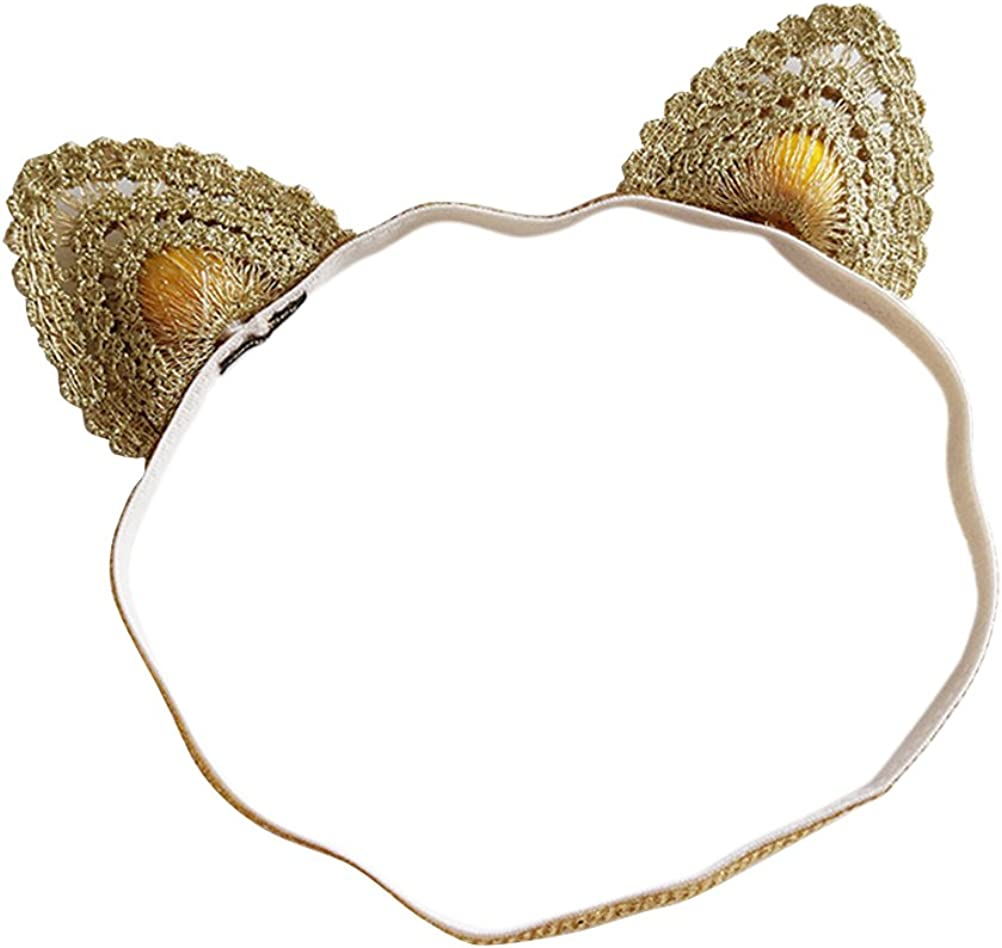 Fmeida Baby Girls Headband with Bow Princess Flower Crown Cute Hair Band for Infant Birthday Girl Outfit