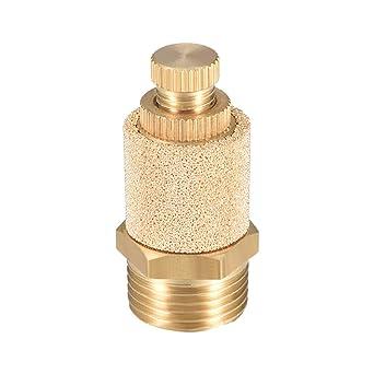 uxcell Pneumatic Air Muffler G3//8 Male Thread Strainer Plastic Breather Exhaust Muffler 3pcs