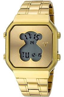 Reloj Tous 900350045 Digital Digibear de Acero IP Rosado: Amazon ...