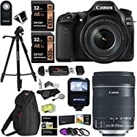 Canon EOS 80D Digital SLR Camera Kit, EF-S 18-135mm f/3.5-5.6 Image Stabilization USM Lens, X2 32GB Memory Cards, Flash, Filters and Accessory Bundle Basic Intro Review Image