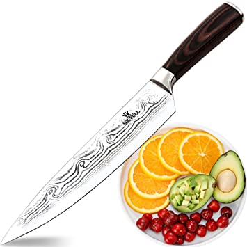 Amazon.com: Soufull Chef Knife 8 inches Japanese Stainless Steel ...