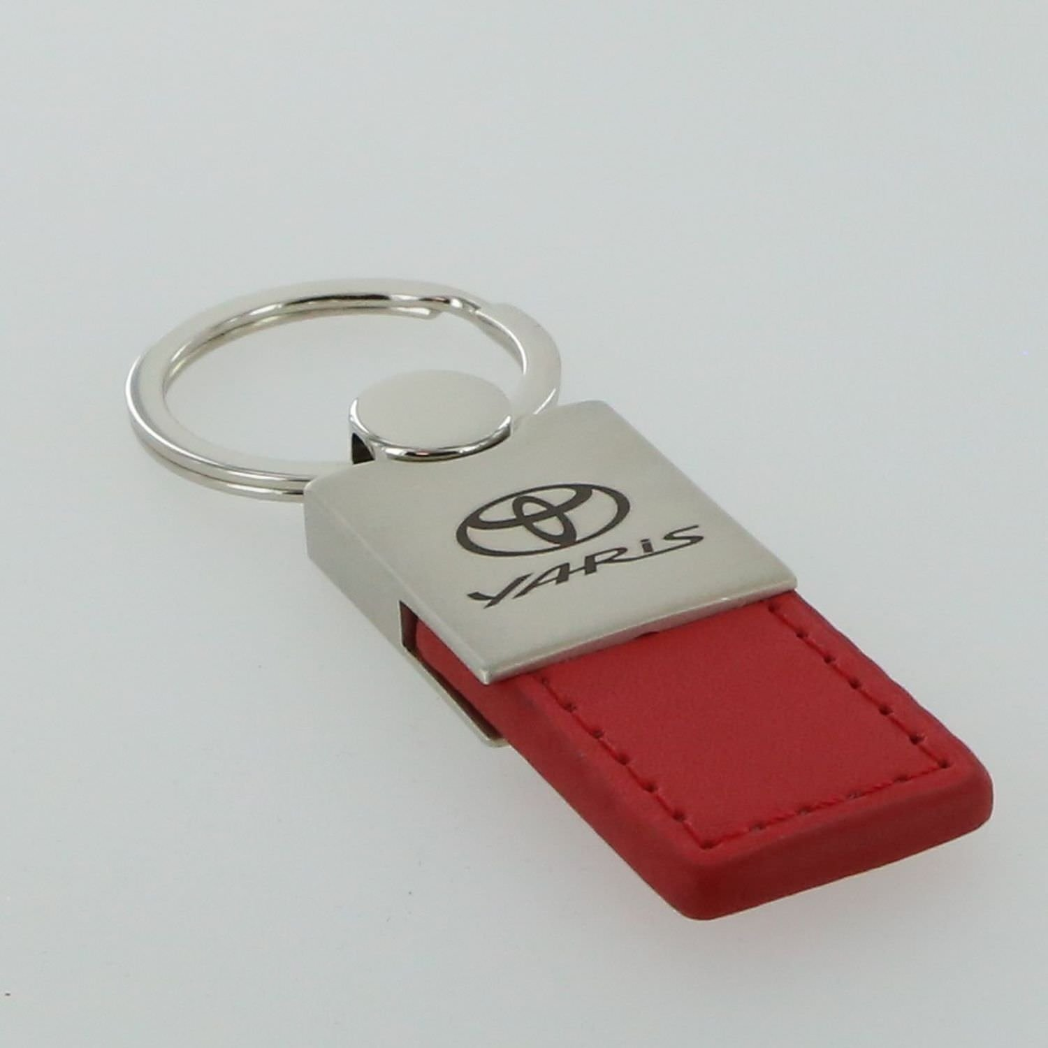 Toyota Yaris Red Leather Key Ring
