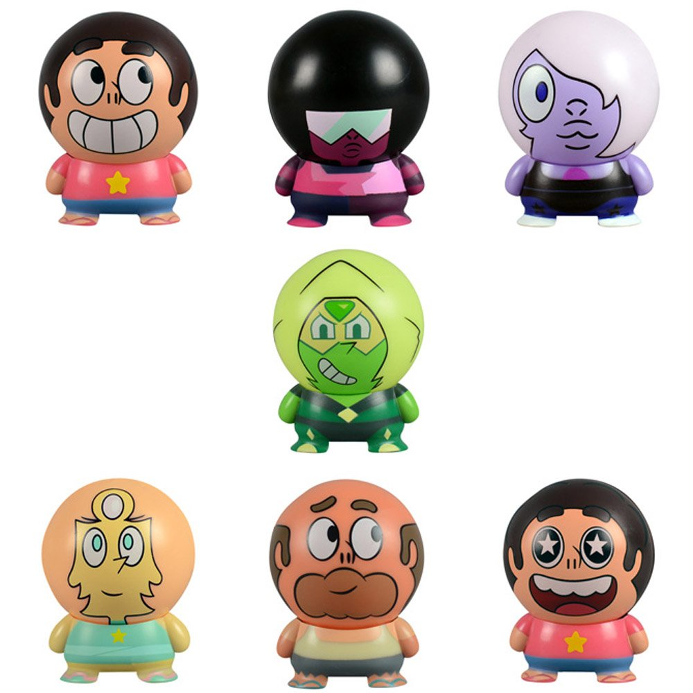 Steven Universe Buildables Complete Set of 7 pcs - featuring Steven, Garnet, Amethyst, Pearl, Greg Universe and Peridot