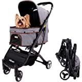 ibiyaya Light Weight Dog Strollers for Medium, Small Dogs and Cats | Smart Design Folds Down to a Large Hand Bag Size | Foldi