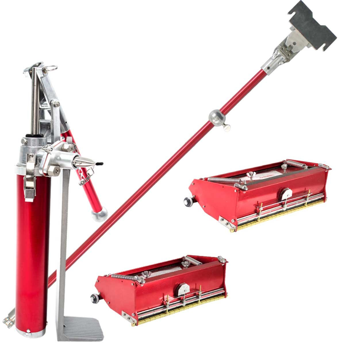 Level5 Drywall 10'' / 12'' Flat Box Finishing Combo w/ Handle and Compound Pump + Filler Valve