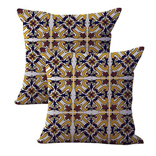Cheap Decorative Pillows set of 2 talavera mexican spanish cushion cover home accessories decor