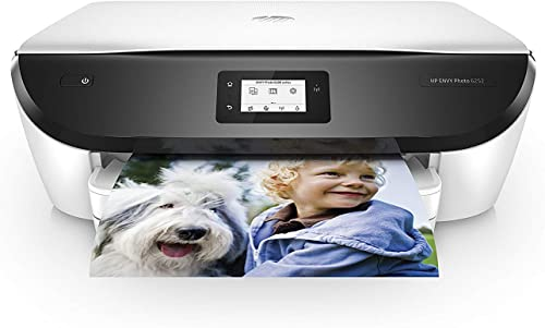 HP ENVY Photo 6252 Wireless All-in-One Printer, Instant Ink Eligible, Works with Alexa – White K7G22A