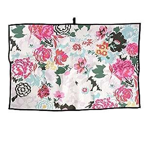 Portable Golf Towel Watercolor Flower Unisex Casual Sports Towel 38X60cm