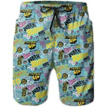 Articles About Animals Baseball Patterned Classical Surfing Board Swimsuit Trunks Short