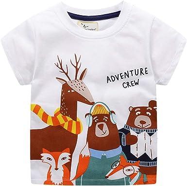 ALLAIBB Camiseta para niños pequeños Manga Corta para bebé niña ...
