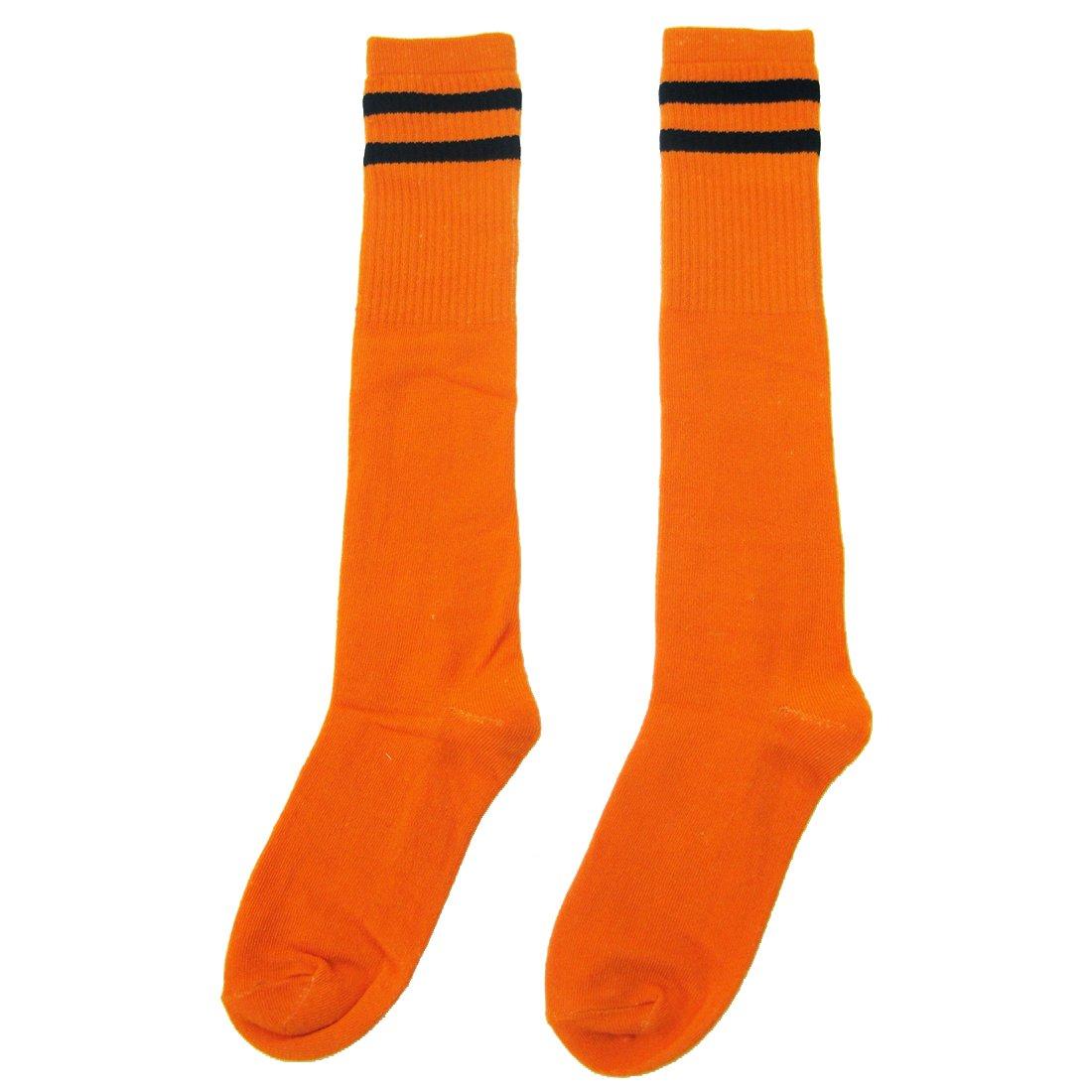 Ninos calcetines largos - SODIAL(R)Ninos Ninos Deporte Futbol calcetines largos de alta calcetin Beisbol Hockey Calcetines (naranja)