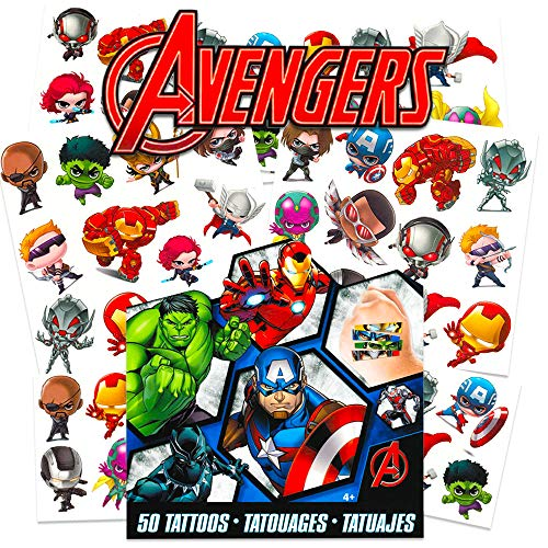 Marvel Avengers Temporary Tattoos for Kids -