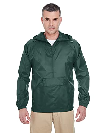 Amazon.com: UltraClub Men's Solid 1/4-Zip Hooded Pullover Pack ...