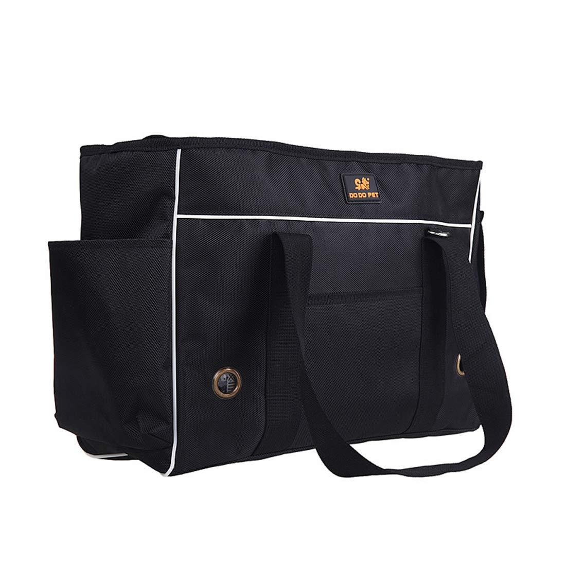 Black L(upto7kg) Black L(upto7kg) Pet Handbag Soft Sided Carrier Carrying Bag Dog Cat Messenger Bag Oxford Cloth