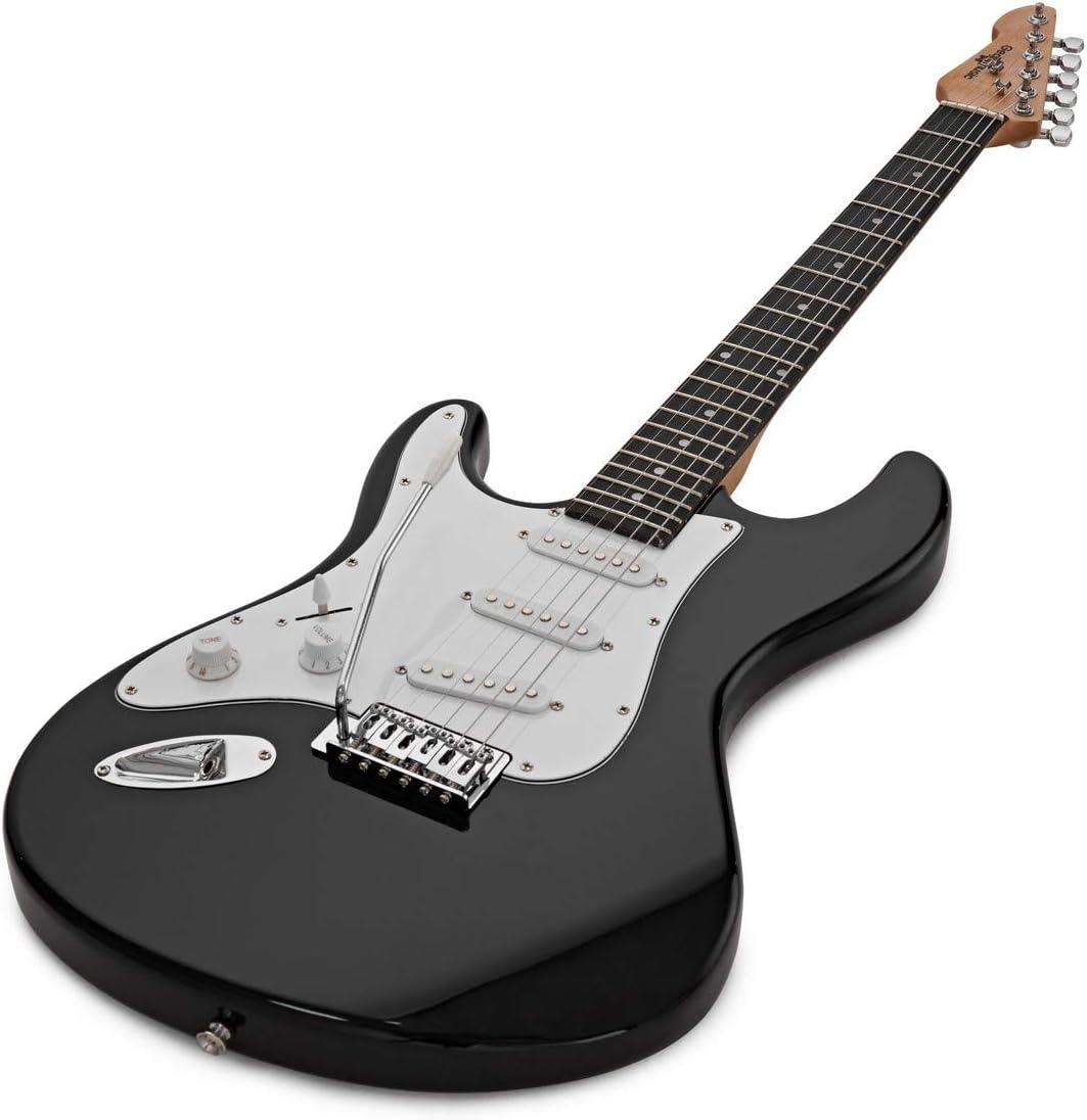 Guitarra Electrica LA Zurda + Paquete de Amplificador de 10 W Negro: Amazon.es: Instrumentos musicales