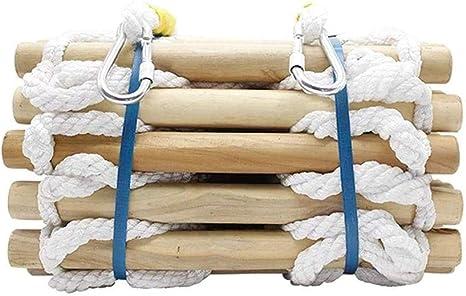 YXIAOL Escalera De Cuerda Escaleras De Emergencia De Resina De Escalera para Niños Adultos Escalera De Entrenamiento Escalera De Cuerda con Peldaños De Madera Escape En Caso De Incendios,30M,30M: Amazon.es: Deportes y