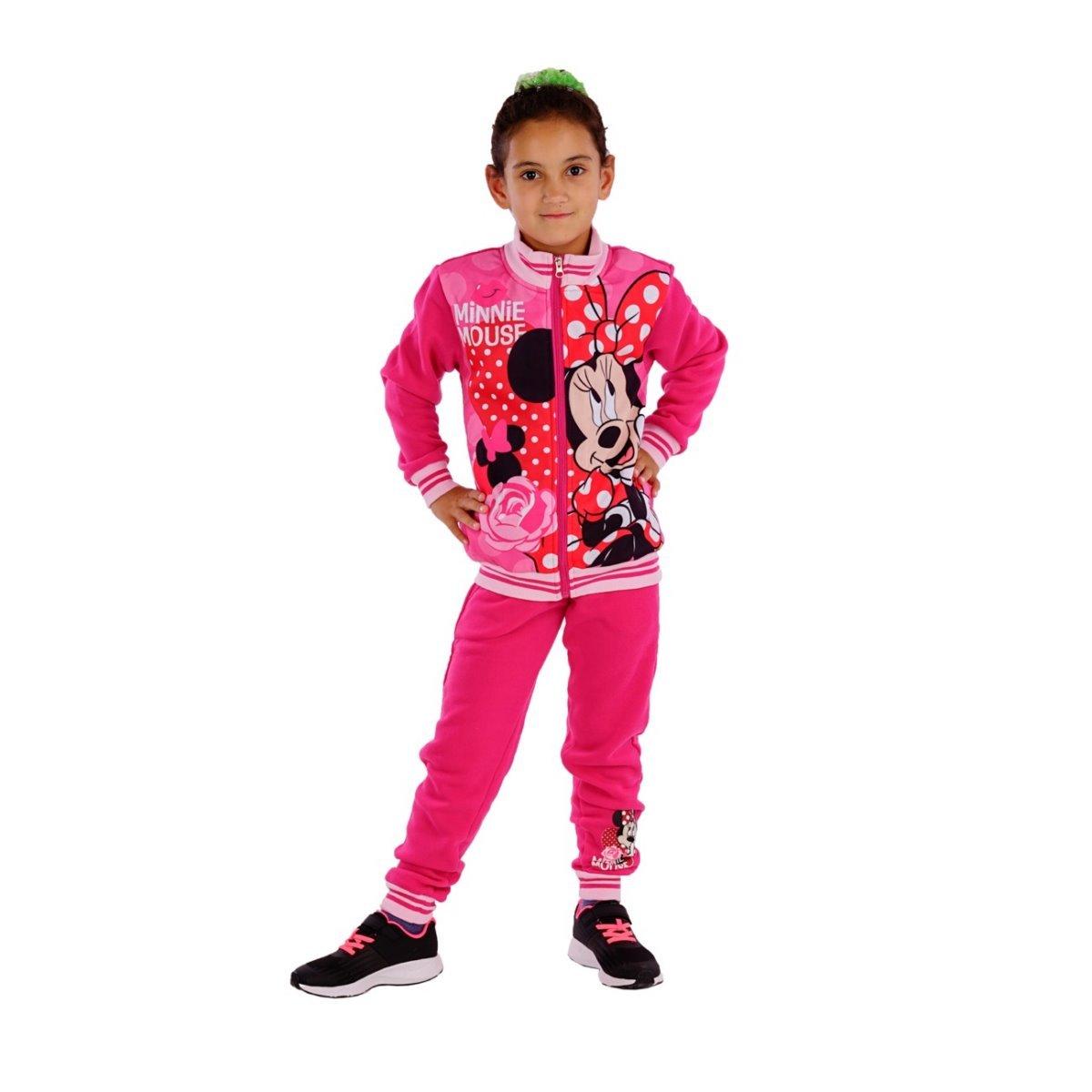 11324 Kinder Jogginganzug Freizeitanzug 2teilg. Disney Minnie Maus Jacke u. Joggpants Mädchen