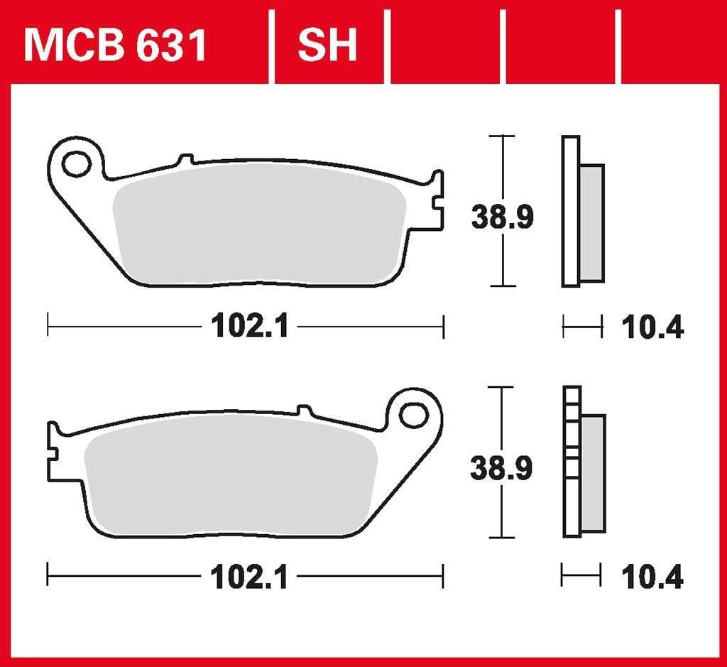 Bremsbelag TRW Sinter Scooter Belag X-Max 400 SH11 17-18 vorne