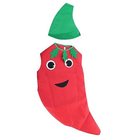 1f59aa6ac8470 BESTOYARD Fruits enfants fruits légumes Costume Kids Pepper Party vêtements  Costumes pour Halloween Cosplay Noël vacances