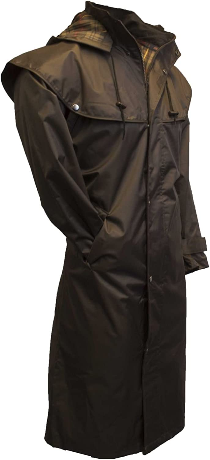 Walker & Hawkes - Outdoor Midland Caped Jacket with Detachable Hood - Nylon Full Length with Taped Seams