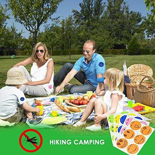 Aolvo Repellente per zanzare patch 120/conta naturale repellente per insetti adesivi per bambini adulti mantiene insetti e Bugs lontano per casa campeggio viaggi e tempo libero