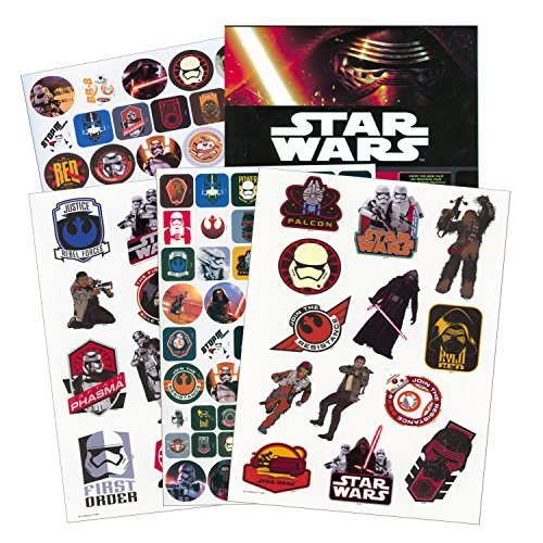 Star Wars Stickers & Tattoos Party Favor Pack (110 Stickers & 26 Temporary (Star Wars Tattoos)