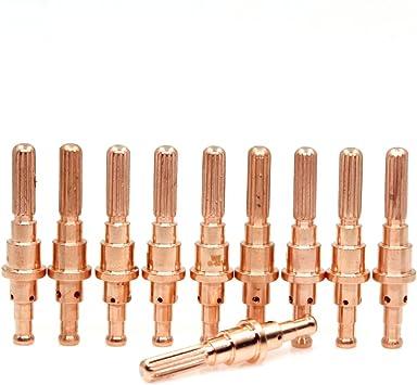 10Pcs Plasma Welding Torch Thermal Dynamics Electrodes 9-8215 for SL60 SL100