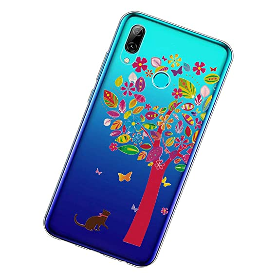 082b0b67889d1b Case Designed for Huawei P Smart 2019, Crystal Clear with Stylish Edge Thin  Slim Fit