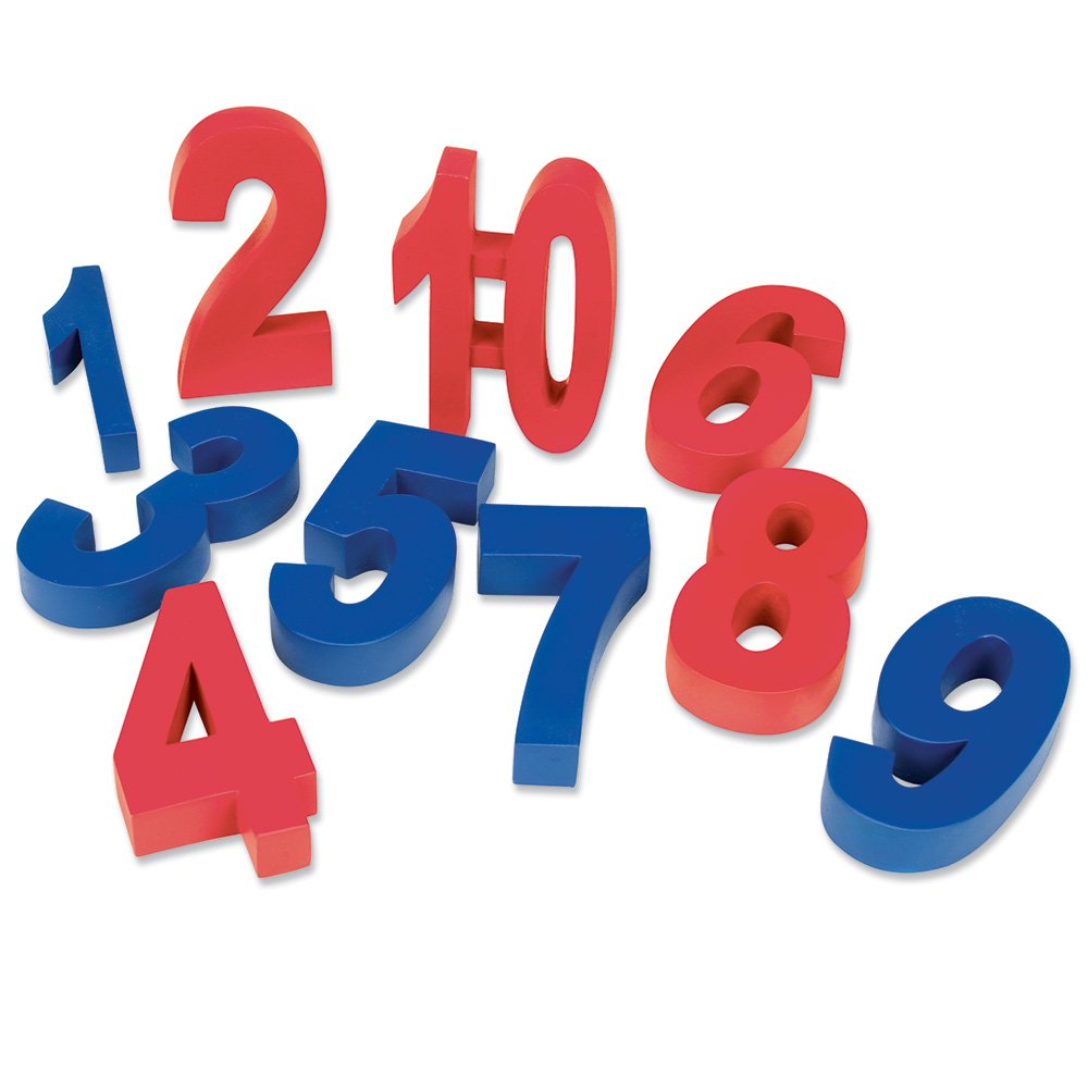 Learning Resources LER2049 Weighted Numbers Red and Blue Set of 10