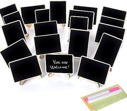 10 X Mini Blackboard Chalkboard Office Home Message Labels Holder Clip Great MO