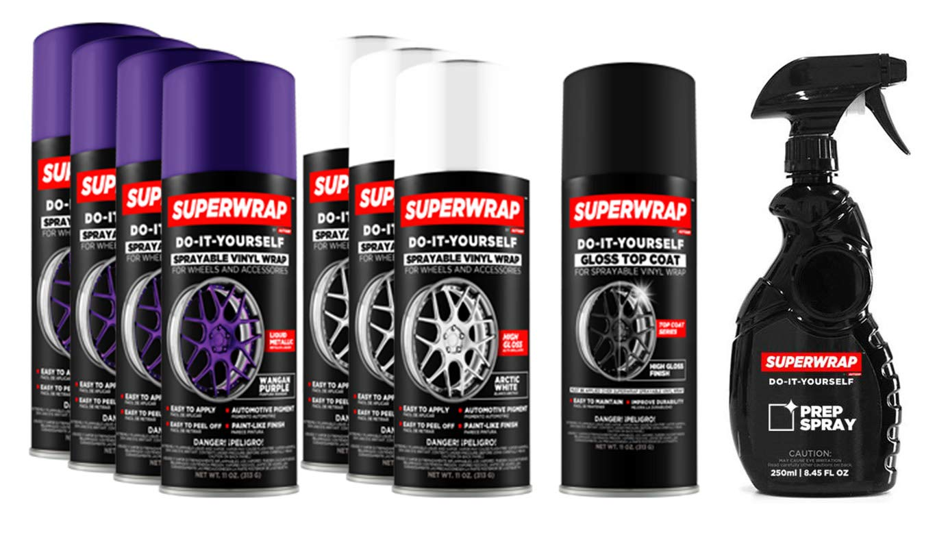 Superwrap Sprayable Vinyl Wrap - Wheels Kits 20'' to 22'' - Wangan Purple