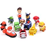 Astra Gourmet Paw Patrol Cake Topper | 12 pcs Set | Mini Toy Figures For Cake Cupcake Decorations Party Favors