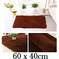 Lukzer 1 PC Bathroom Rug Mat 56 x 40 cm Extra Soft and Absorbent Shaggy Rugs for Tub, Shower, and Bath Room/Microfibre Chenille Door Mat