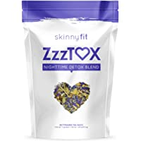 SkinnyFit ZzzTox Nighttime Detox Tea: Caffeine-Free, All-Natural, Laxative-Free, Chamomile, Lavender, Vegan, Non-GMO, Gluten-Free, 28 Servings - Release Toxins Before Bedtime for a Restful Sleep