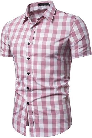 YEBIRAL - Camisa de Cuadros para Hombre a Granel Informal ...