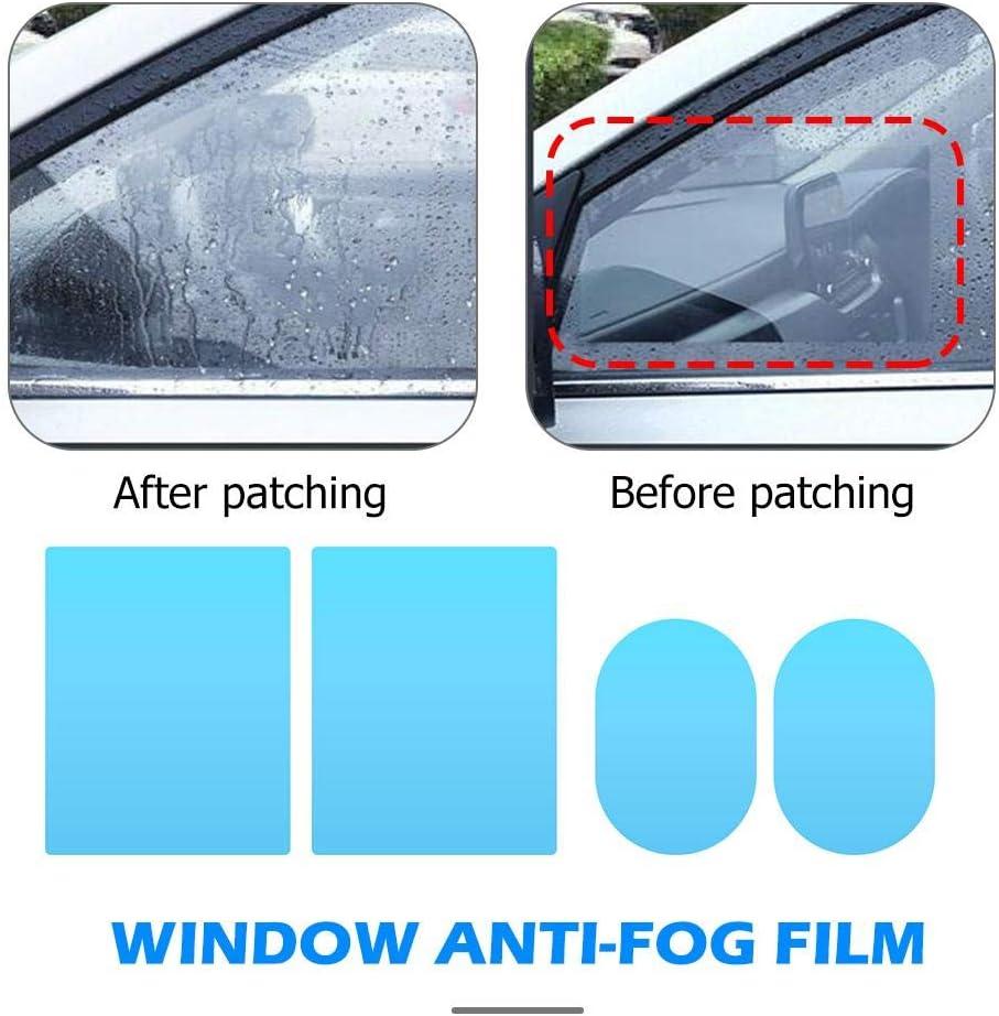 Starnearby 4 Stück Spiegel Schutzfolie Regenschutz Nebelfolie Für Auto Spiegel Auto